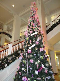 One of the Disneyland Paris Christmas Trees