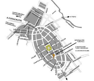 Mapa de  Lonquimay   ciudad comuna