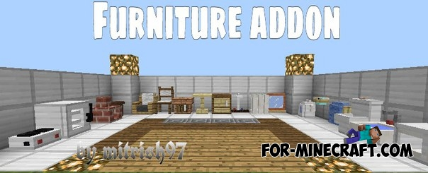 Minecraft Pe Furniture mineshaft gold: furniture mod mcpe 0.11.1