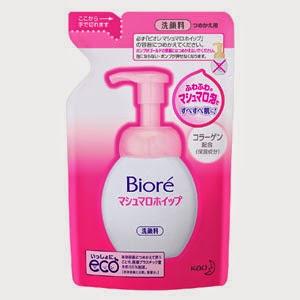 Bioré Malvavisco limpiador facial, dispensa una espuma suave y esponjosa .