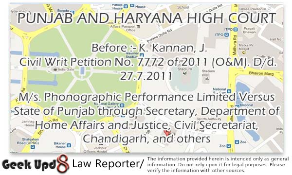 Police can seize the copies that are infringing the copyright - P & H High Court