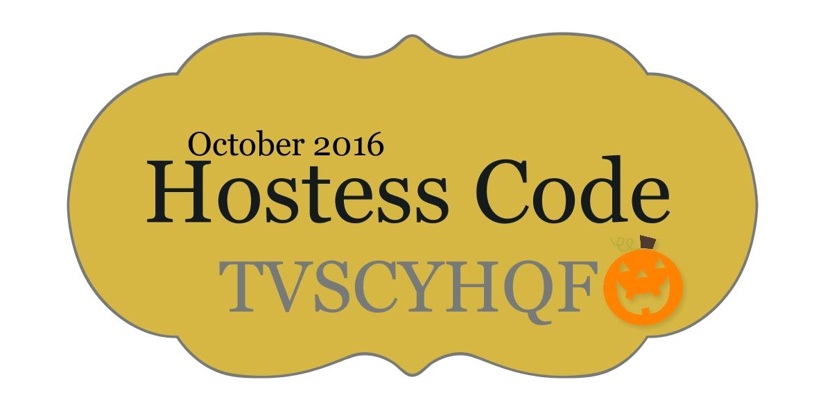 October Hostess Code: