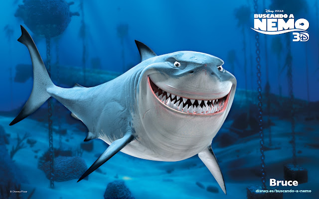 Wallpaper de la película de Pixar buscando a Nemo, Bruce