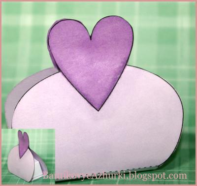 коробочка с сердцем на день святого валентина