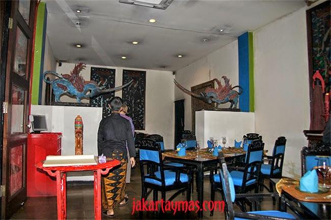 Un salón del restaurante Lara Djonggrang en Yakarta