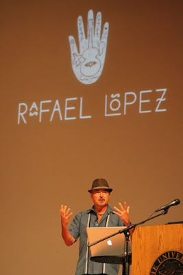 Rafael López at the Mazza Museum via www.happybirthdayauthor.com