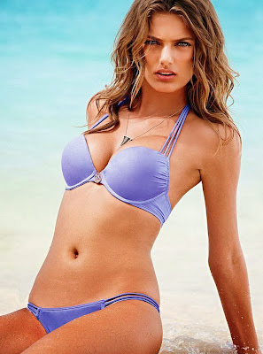Bregje Heinen show off her sexy body fo Victoria's Secret swimwear photoshoot