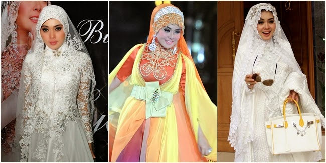 13 Foto Desain Baju Muslim Syahrini Kumpulan Model Baju