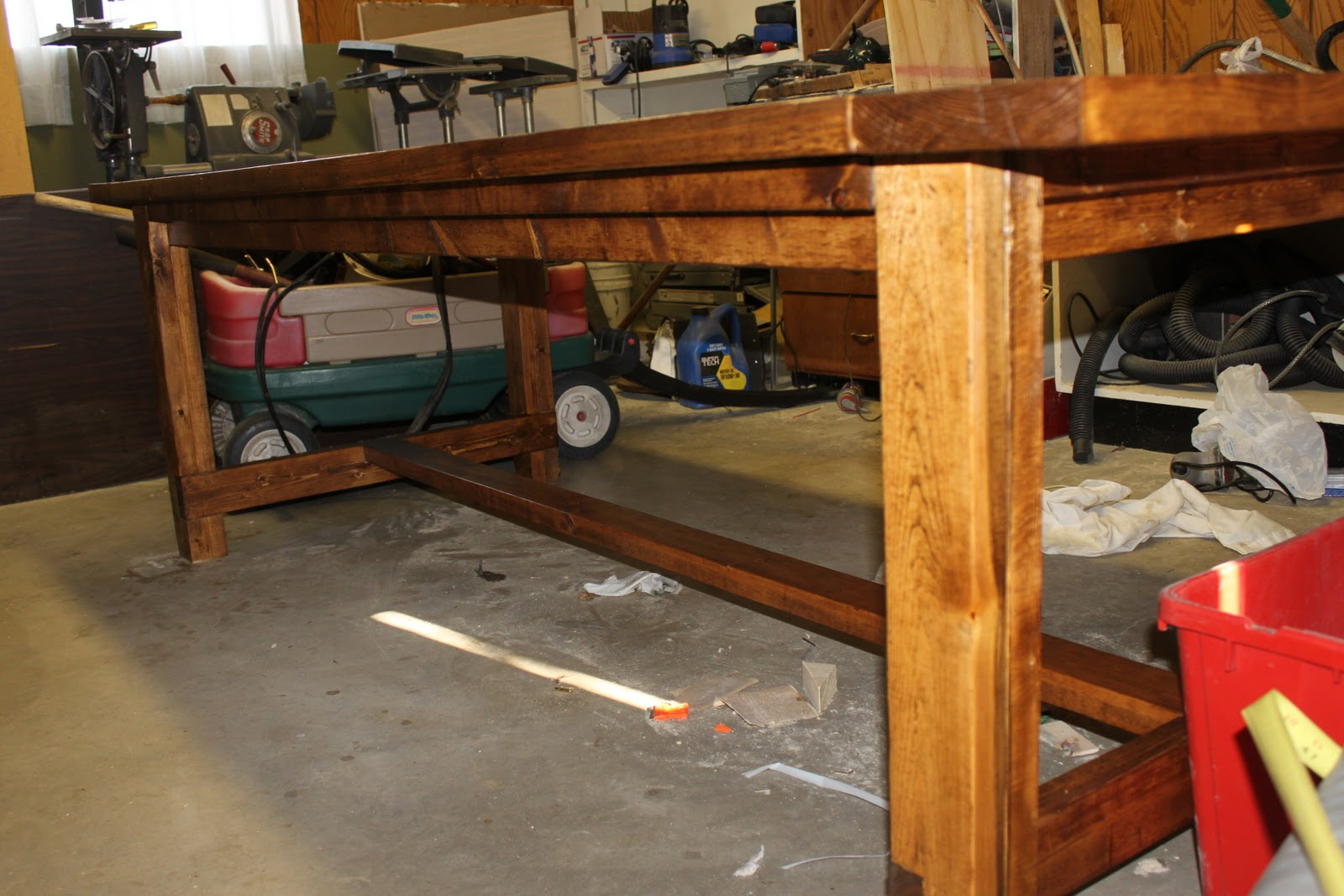 How We Built A DIY Dining Room Table From Free Plans Online It Was Easy You Should Try