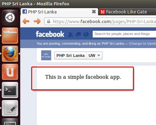 simple facebook app
