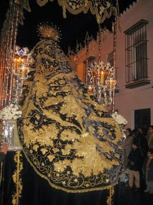 Manto Virgen Presentación Calvario hermanas Antúnez1902 Virgen PAciencia Carmona