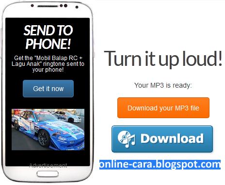 Cara Convert Video Ke MP3 Online ~ Cara Online