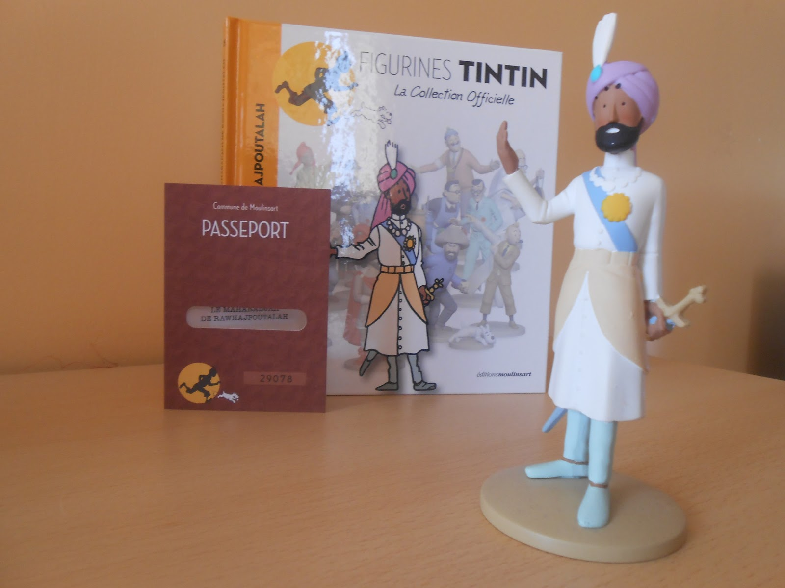 Collection officielle figurine Tintin Moulinsart 25 Maharadjah de Rawhajpoutalah