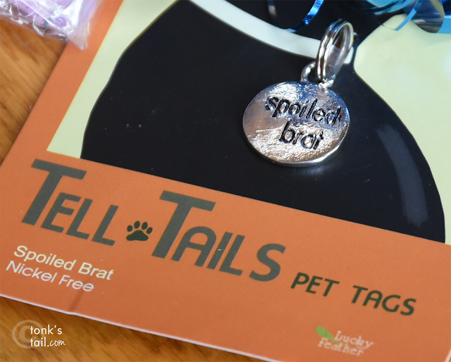 Just calling it how I see it. Faraday's a brat #spoiledbrat pet gift tag