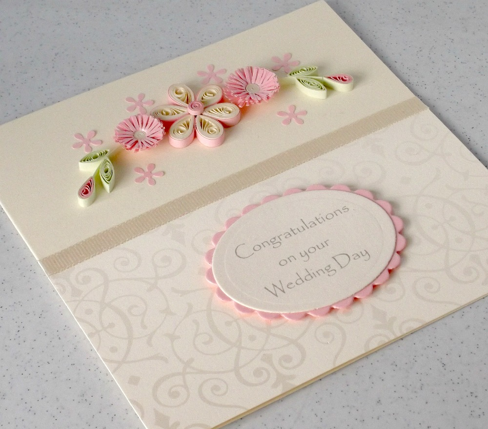 Paper Daisy Cards Quilled Engagement Card