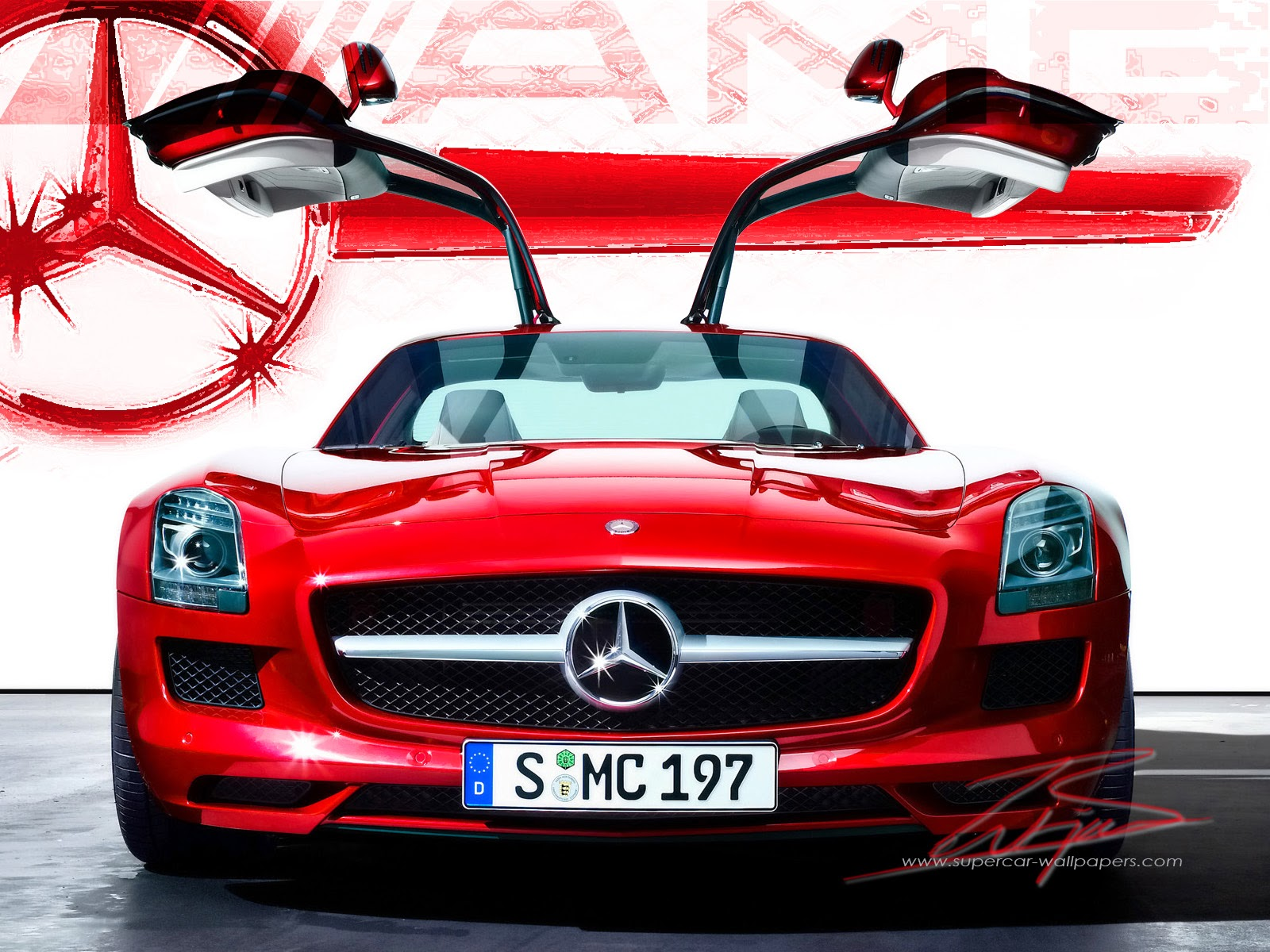 HD Mercedes SLS AMG 1600 WALLPAPER