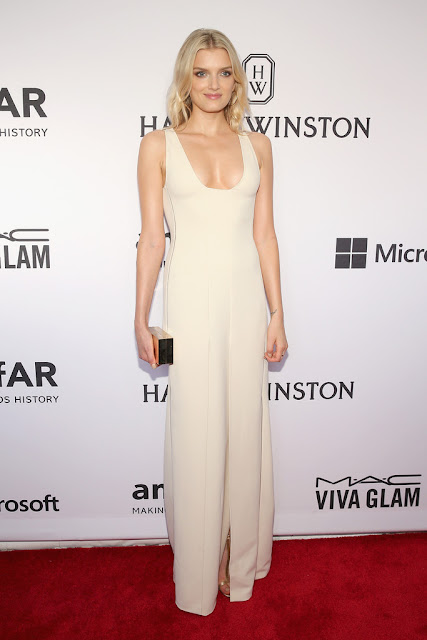 Fashion Model @ Lily Donaldson At 2015 amfAR Inspiration Gala in New York