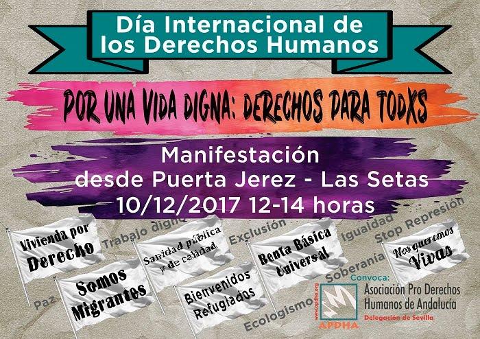 Día Internacional de los Derechos Humanos. POR UNA VIDA DIGNA:DERECHOS PARA TODXS.