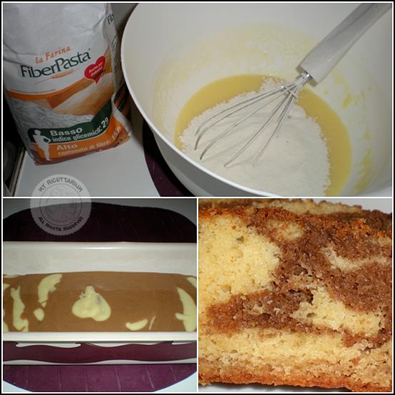Plumcake variegato al caffè