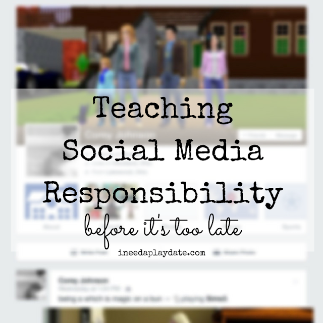 Teaching Social Media Responsibility: Why I let my kid have Facebook @mryjhnsn