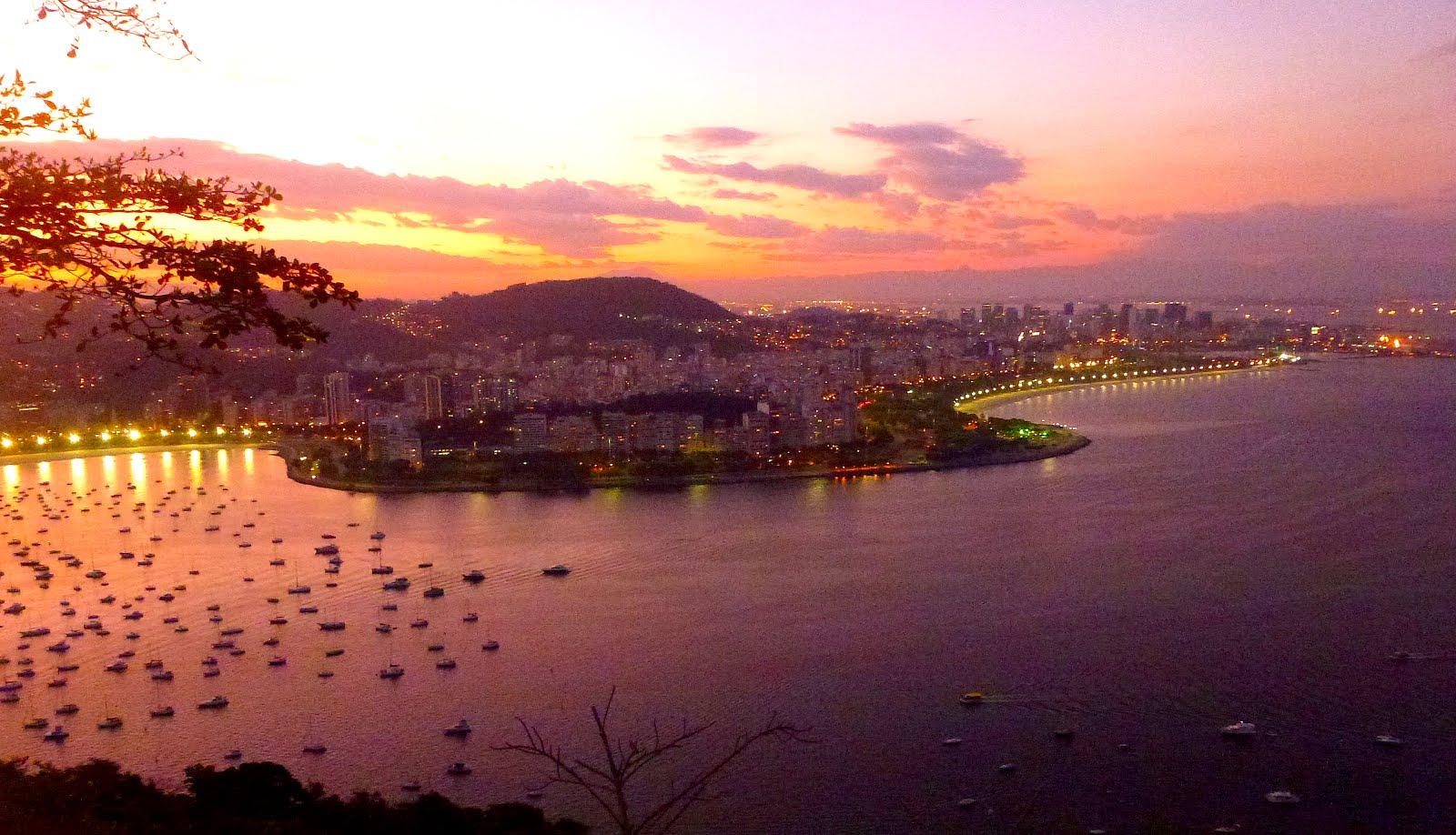Un coucher de soleil sur Rio