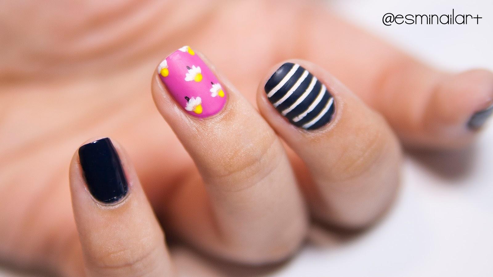 Mi nail art!: Nail art de margaritas | Maniswap + Vídeo tutorial