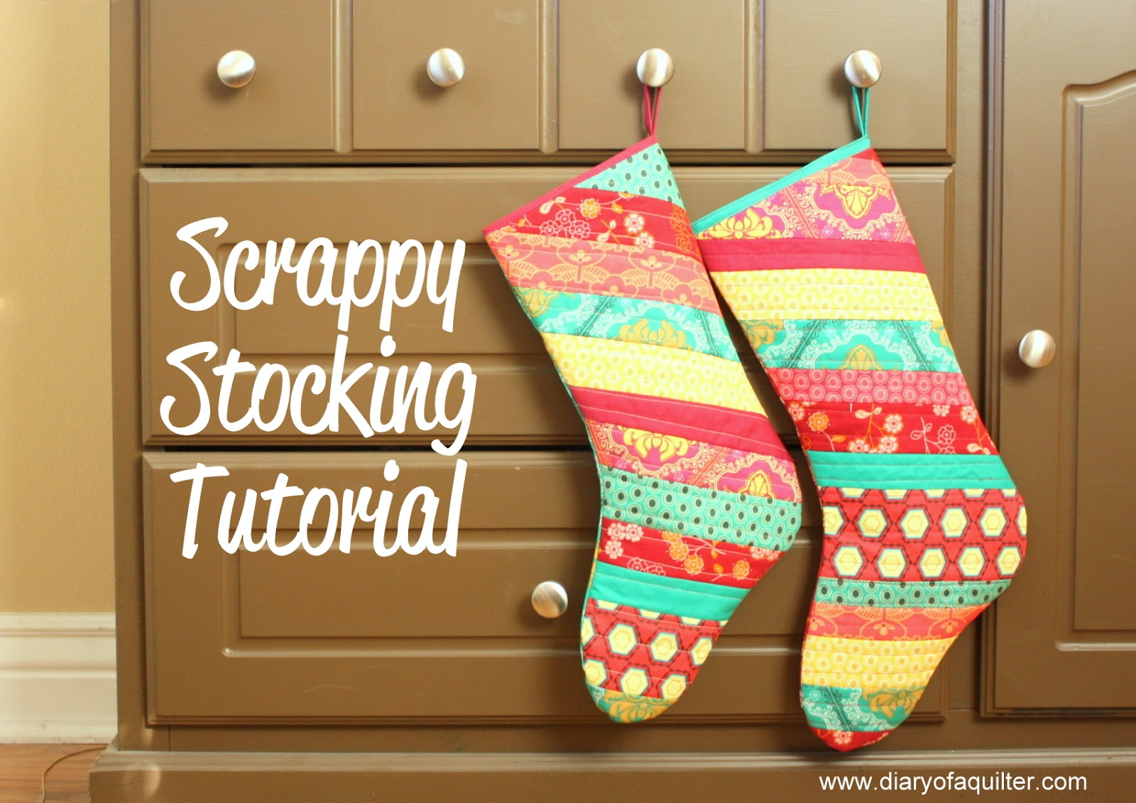 Christmas Stocking Tutorial - Diary of a Quilter - a quilt blog
