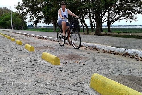 SÃO LOURENÇO DO SUL - ABAIXO-ASSINADO QUER RETIRADA DE CICLOVIA NA PRAIA DA BARRINHA