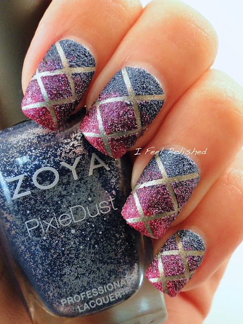 Zoya Pixie Dust Tape Nail Art