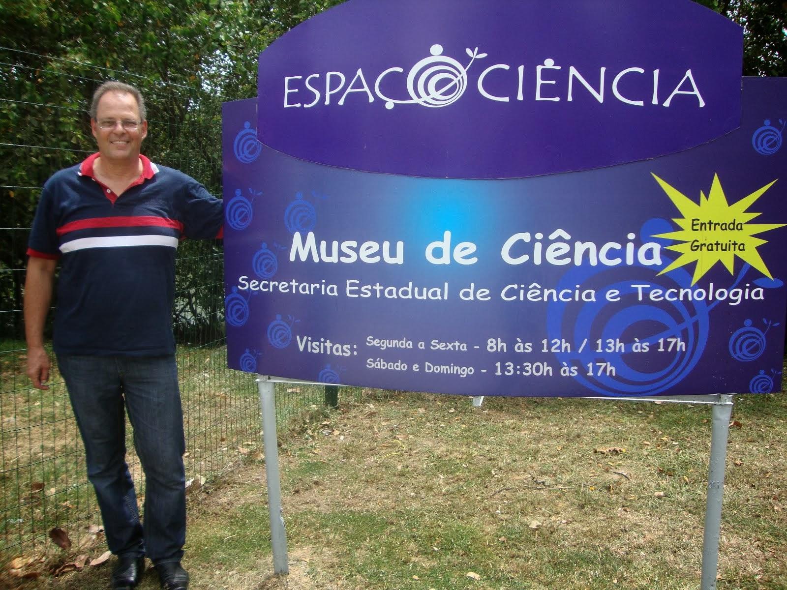 Thomas no Espaço Ciência de PE - Brasil
