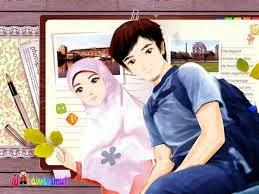 Gambar Kartun Islami Romantis Wallpaper Animasi Remaja