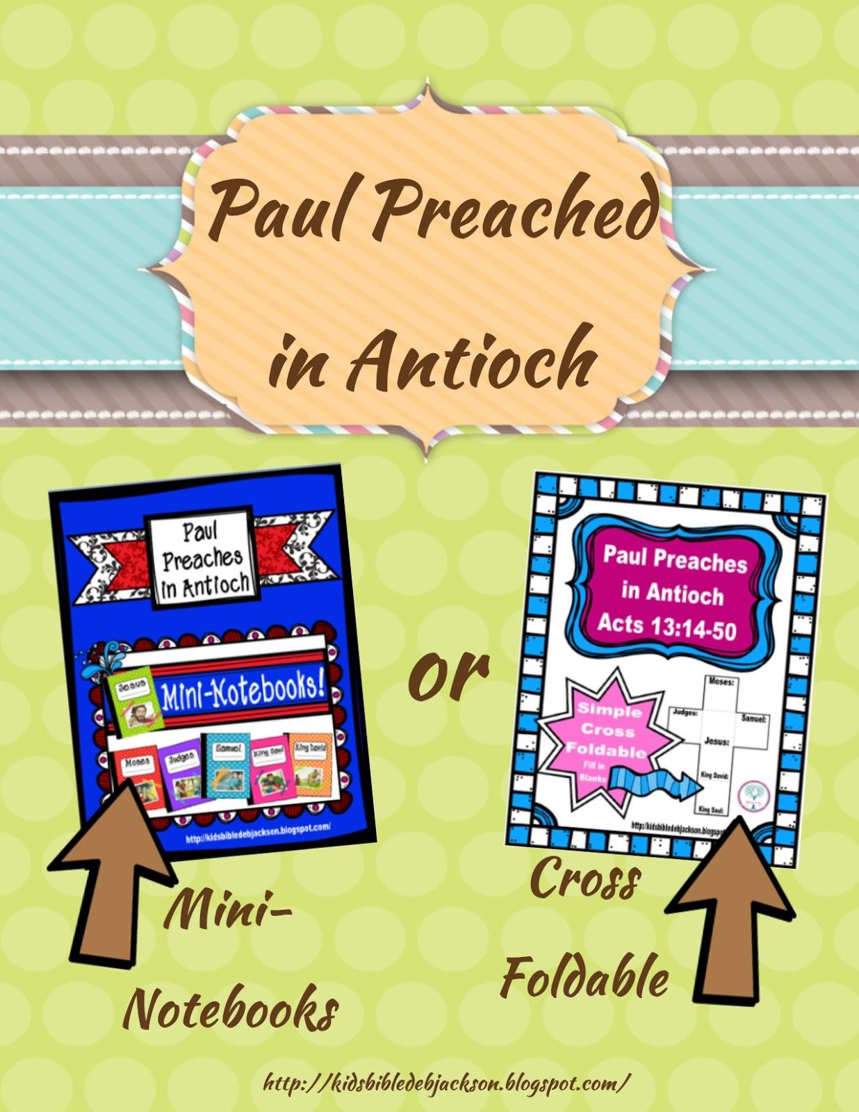 http://kidsbibledebjackson.blogspot.com/2015/02/paul-preaches-in-antioch.html