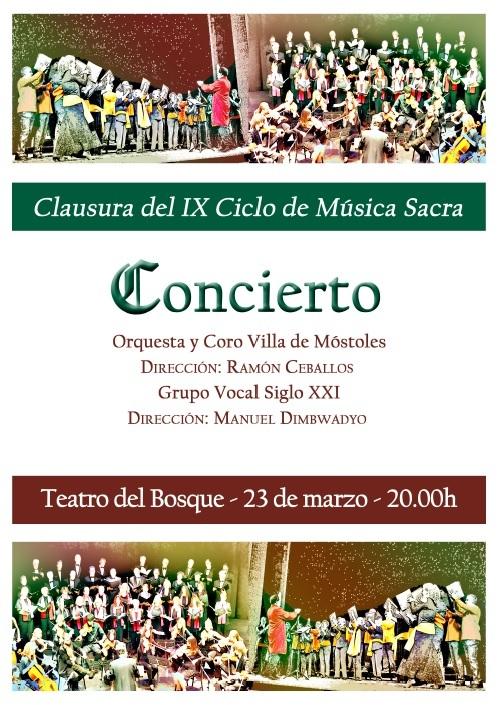 Cartel Orquesta y Coro Villa de Móstoles