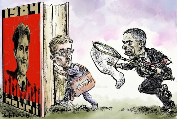 Bobrow: Orwell, Snowden, Obama.