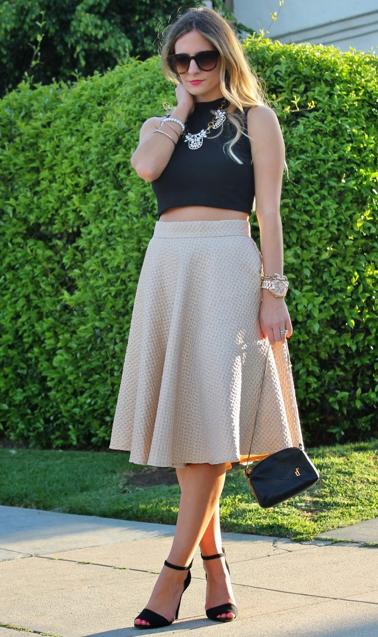 Crop Top with Midi Skirt Outfit