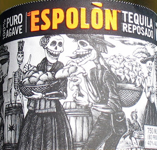 Skeletons of a bottle of Espolon Tequila Reposado