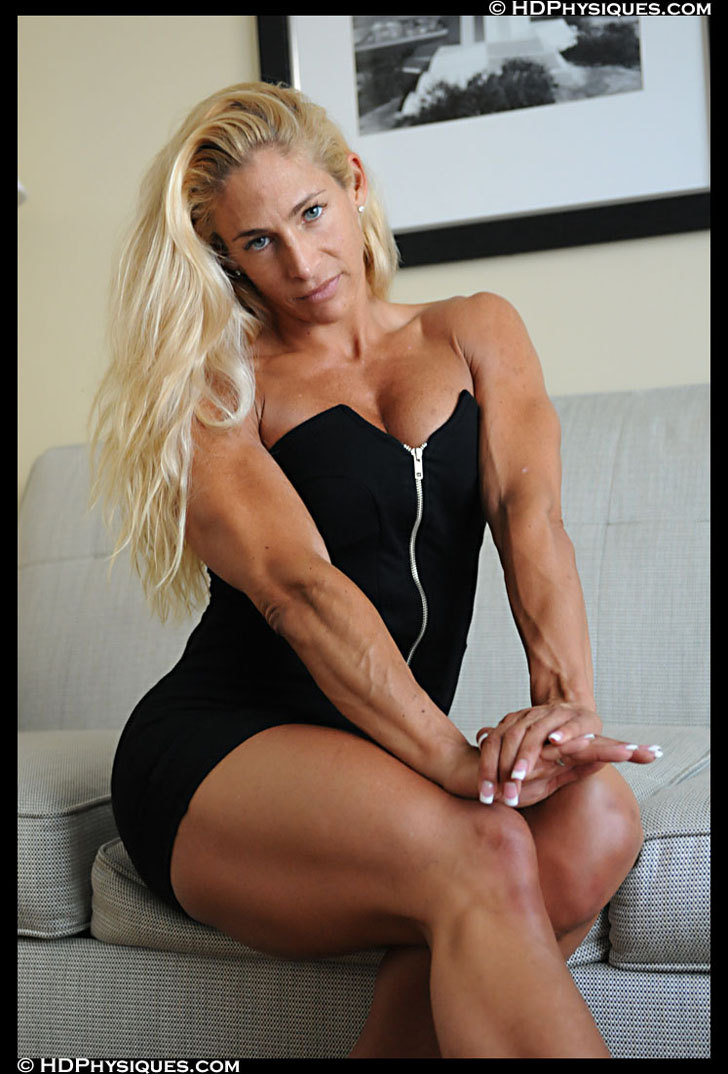 Jill Rudison Modeling Her Muscular Arms And Legs