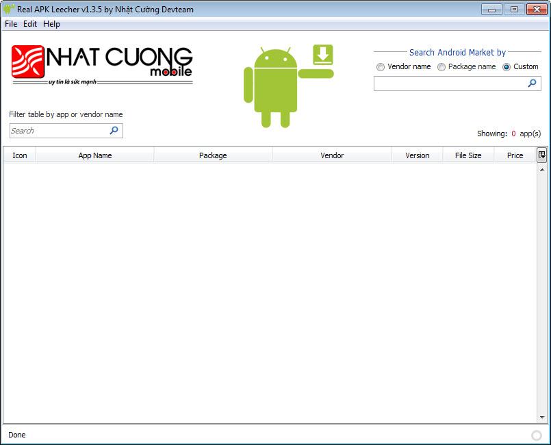 Cari aplikasi android yang akan di download. ketikan di kolom ...