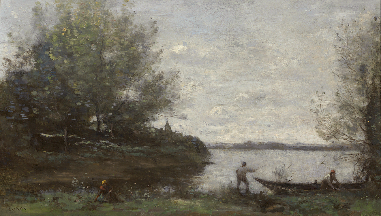 Vicsmuse three landscape paintings by jean baptiste for Camille corot