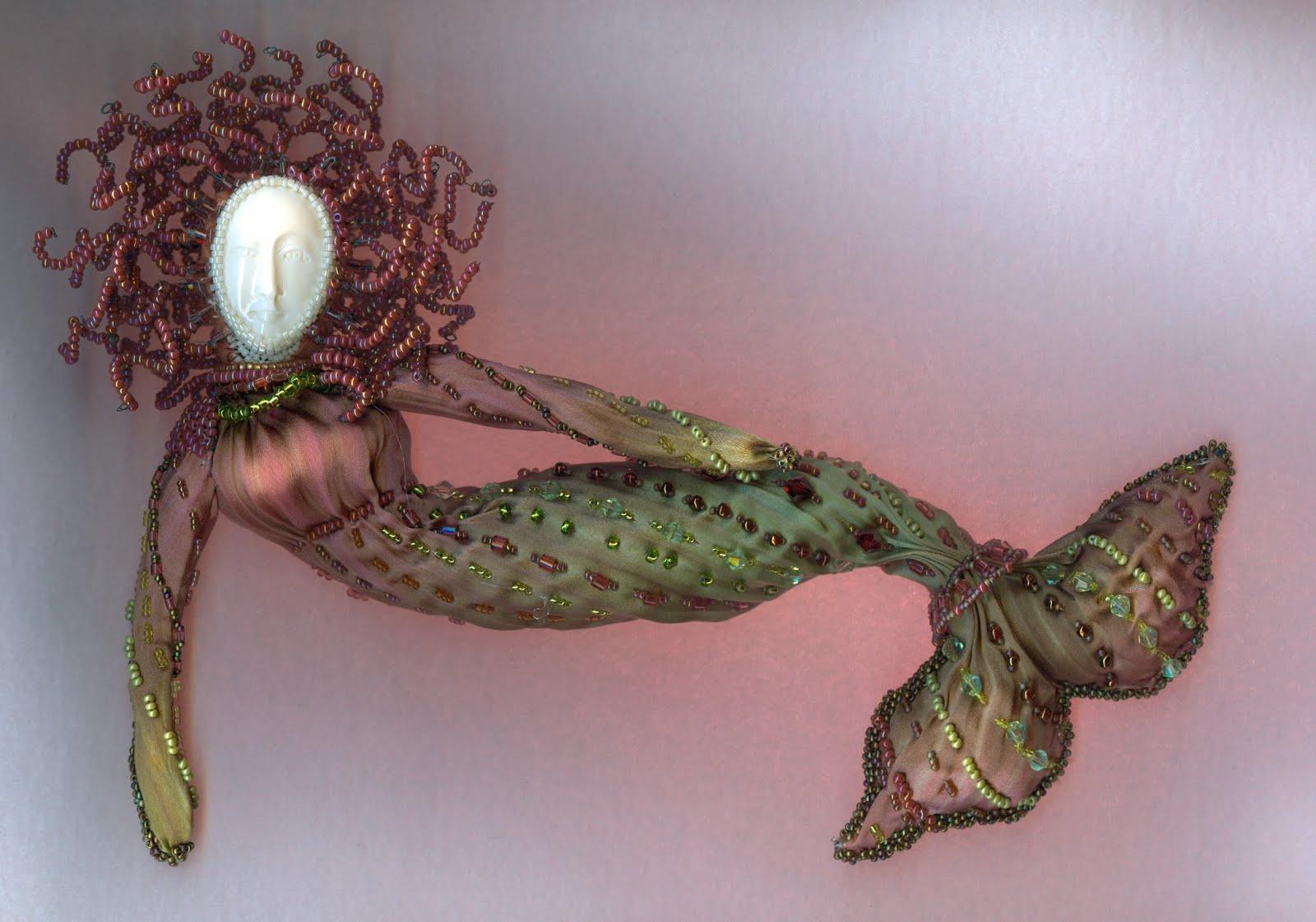 mermaid brown/ green