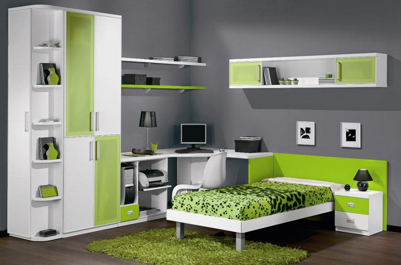 Modern kids rooms furniture ideas an interior design for Study room wall cabinets