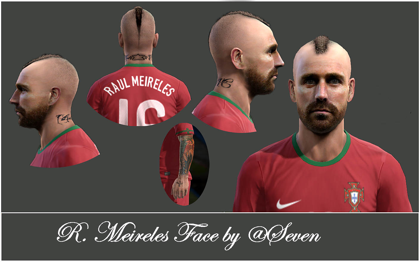 PES 2013 R. Meireles Face by @Seven