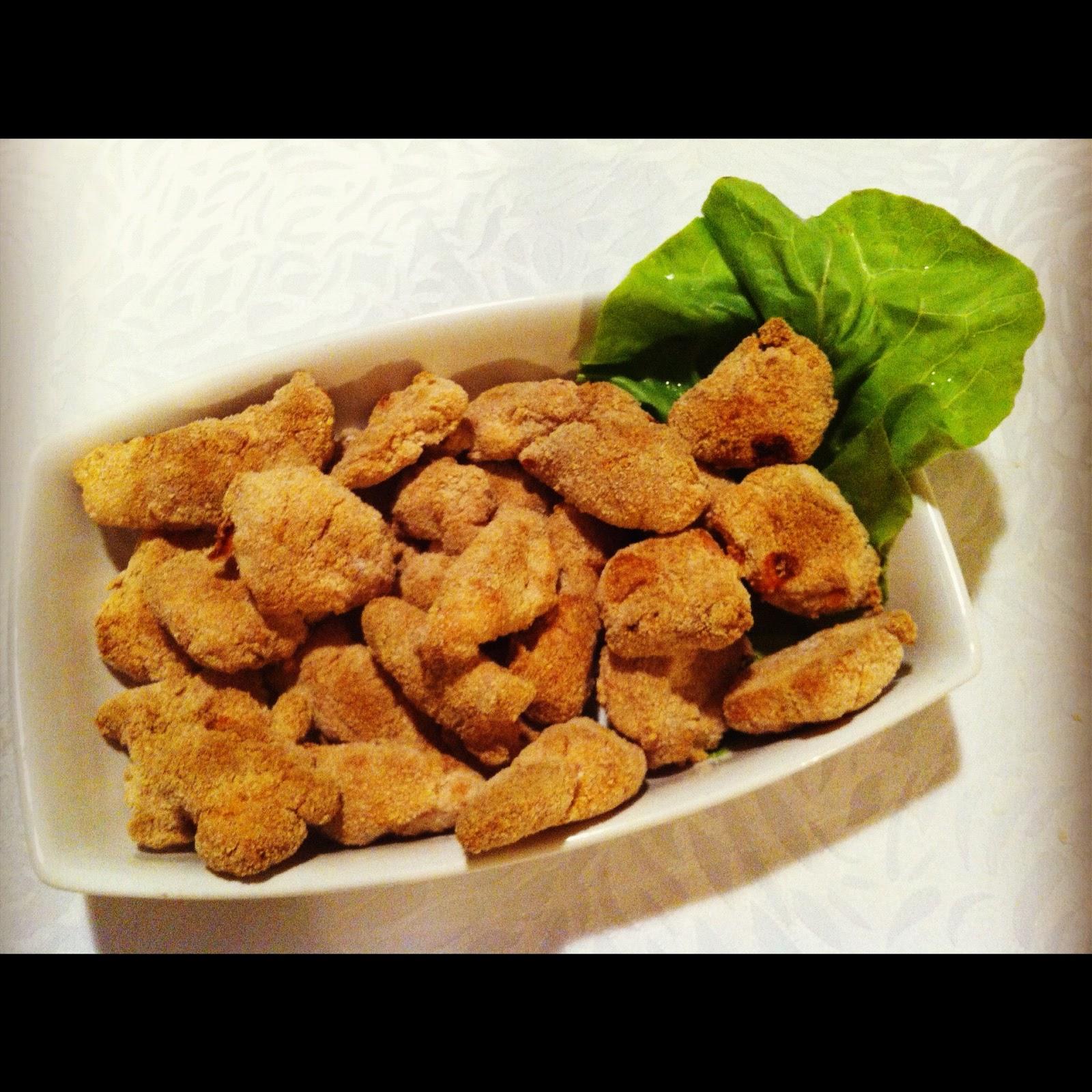 CORUJANDO: Receita: Nuggets Caseiro