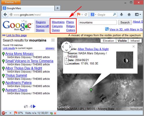 Itulah cara berwisata ke Mars dengan Google . Sederhana bukan? Selamat ...