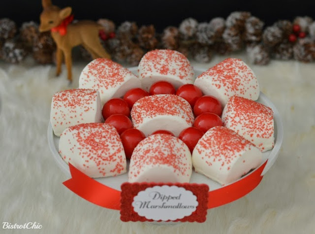 Christmas Baby Deer Party Dipped Marshmallows by BistrotChic