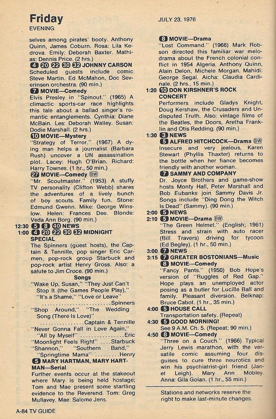 vintage 1974 TV Guide November 30 Teresa Graves Jehovah Witness John Denver