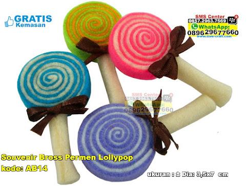 Souvenir Bross Permen Lollypop murah