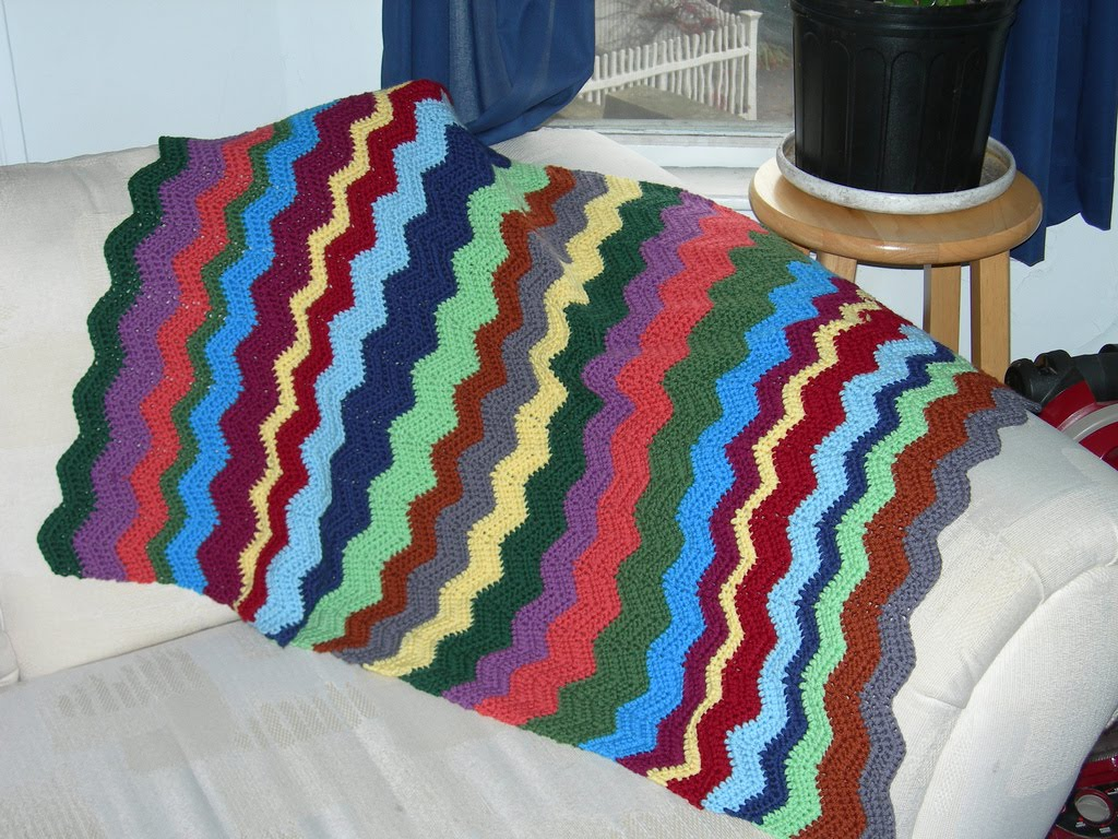 simple double crochet afghan pattern