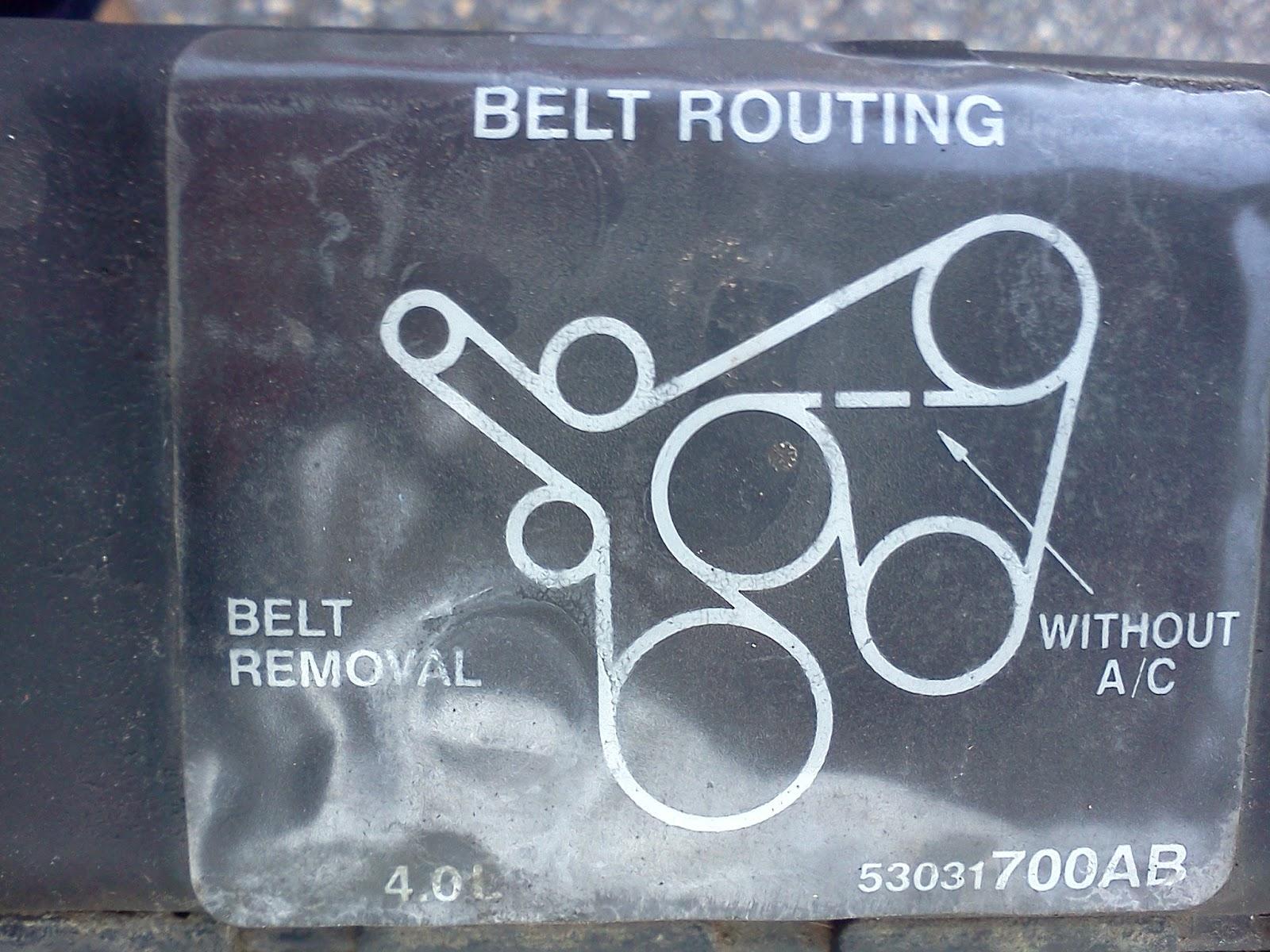 2004 Lj  Auto  4 0  Question  Diagram Of Serpentine Belt