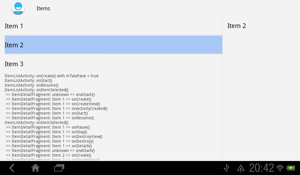 Android Er Life Cycle Of Masterdetailflow Helloworld